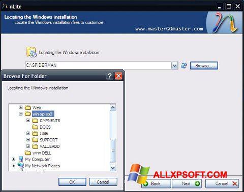 Snimak zaslona nLite Windows XP