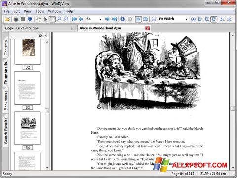 Snimak zaslona DjView Windows XP