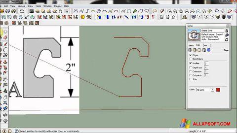 Snimak zaslona SketchUp Windows XP
