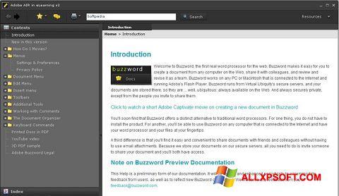 Snimak zaslona Adobe AIR Windows XP