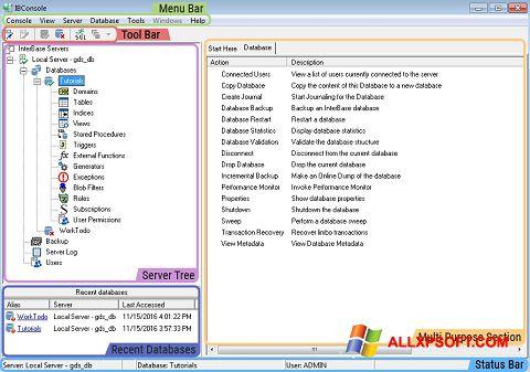 Snimak zaslona InterBase Windows XP