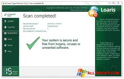 Snimak zaslona Loaris Trojan Remover Windows XP