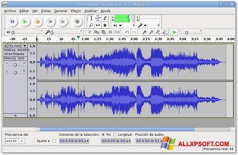 Snimak zaslona Audacity Windows XP