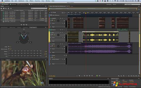 Snimak zaslona Adobe Audition Windows XP