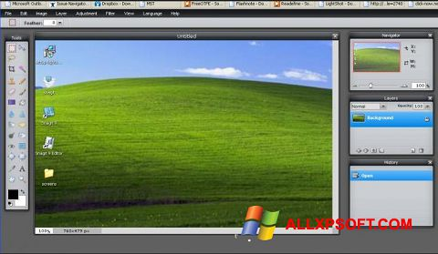Snimak zaslona LightShot Windows XP