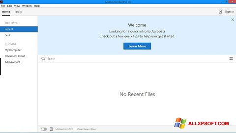 Snimak zaslona Adobe Acrobat Pro Windows XP