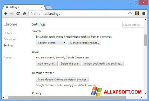 Snimak zaslona Chrome Cleanup Tool Windows XP