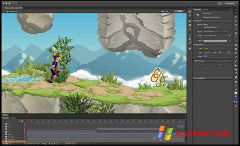Snimak zaslona Adobe Flash Professional Windows XP