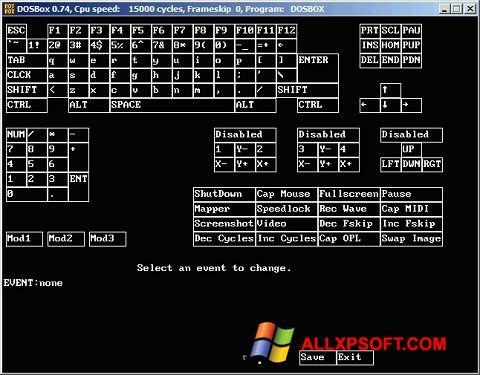 Snimak zaslona DOSBox Windows XP