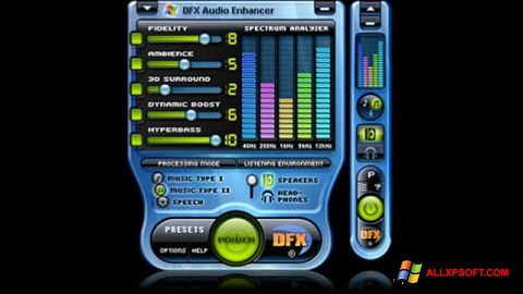 Snimak zaslona DFX Audio Enhancer Windows XP