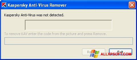 Snimak zaslona KAVremover Windows XP