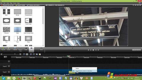Snimak zaslona Camtasia Studio Windows XP