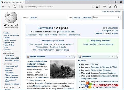 Snimak zaslona Microsoft Edge Windows XP
