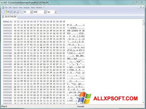 Snimak zaslona Hex Editor Windows XP