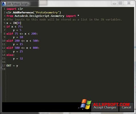 Snimak zaslona Python Windows XP