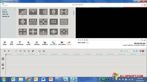 Snimak zaslona Wondershare Filmora Windows XP