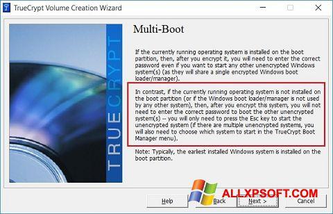 Snimak zaslona MultiBoot Windows XP