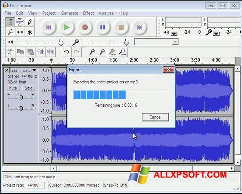 Snimak zaslona Lame MP3 Encoder Windows XP