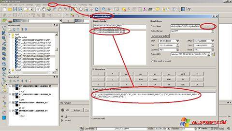 Snimak zaslona QGIS Windows XP